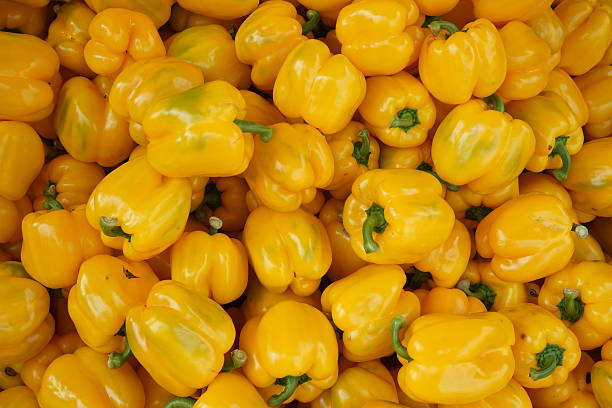 yellow sweet pepper paprica  yellow bell pepper stock pictures, royalty-free photos & images
