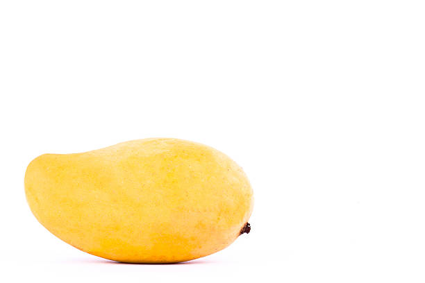 yellow sweet ripe mango on white background healthy fruit food – Foto