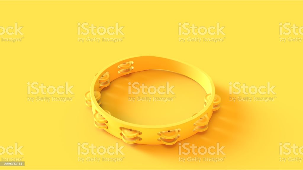 Yellow Tambourine stock photo