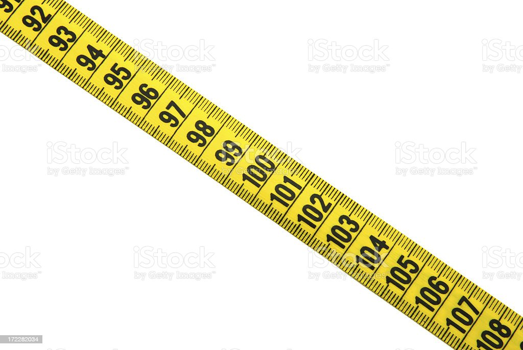 yellow tape measure royalty-free stock photo