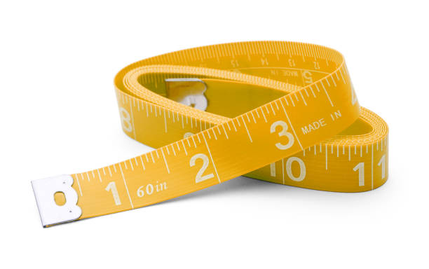 yellow tape measure - ruler stock photos and pictures
