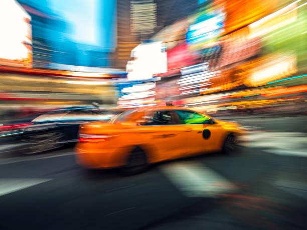 Gelbes Taxi in New York City – Foto
