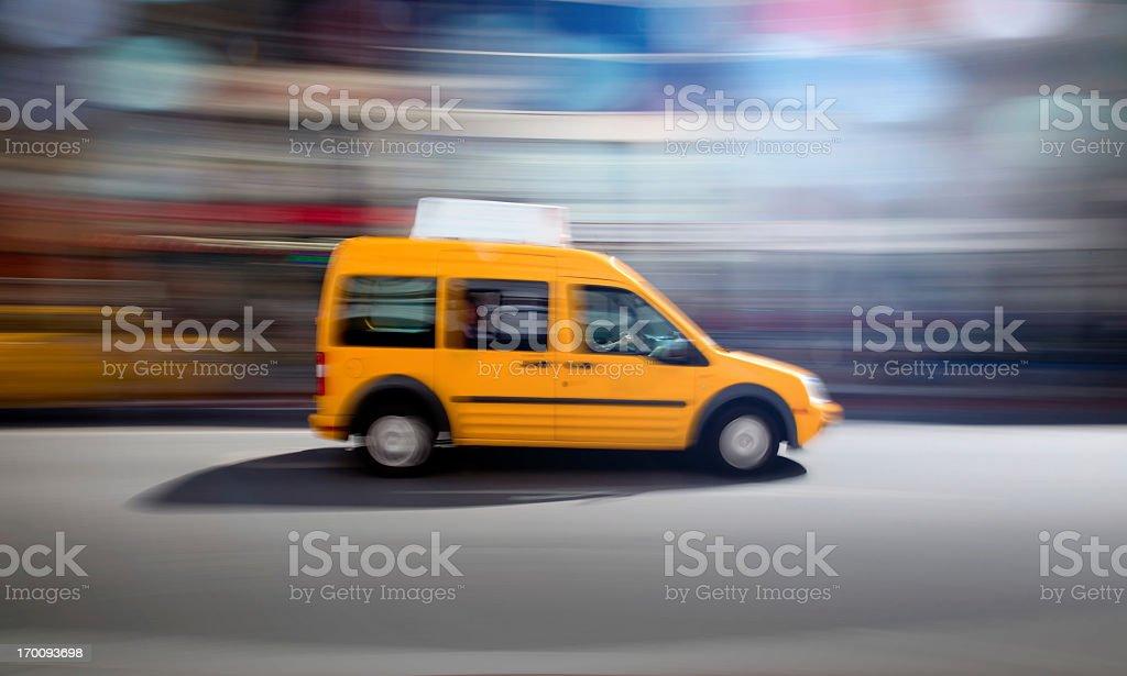Yellow Taxi royalty-free stock photo