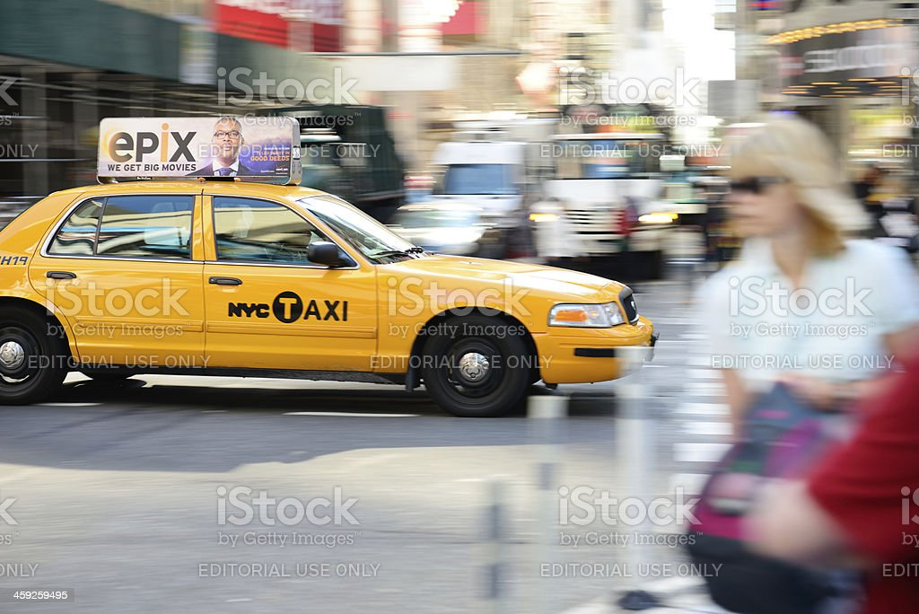 NYC Yellow taxi royalty-free stock photo