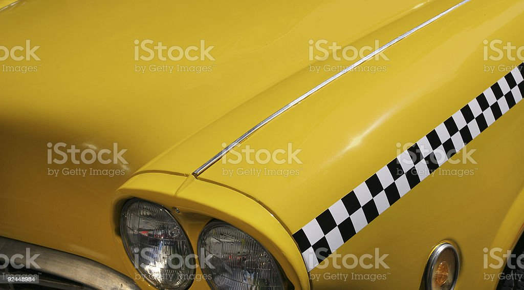 Yellow Taxi royalty-free stock photo