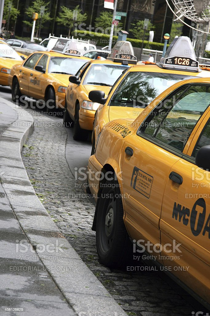 Yellow Taxis royalty-free stock photo