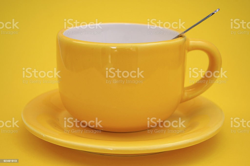 yellow tea royalty-free stock photo
