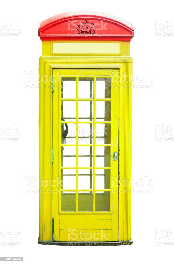 Yellow Telephone Cabin In London City Stock Photo Download Image
