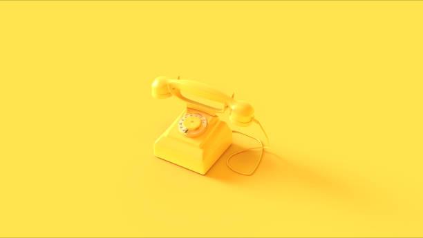 Yellow Telephone stock photo