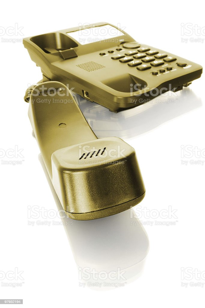 yellow telephone royalty-free stock photo