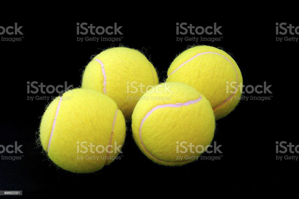 Yellow tennis balls royaltyfri bildbanksbilder