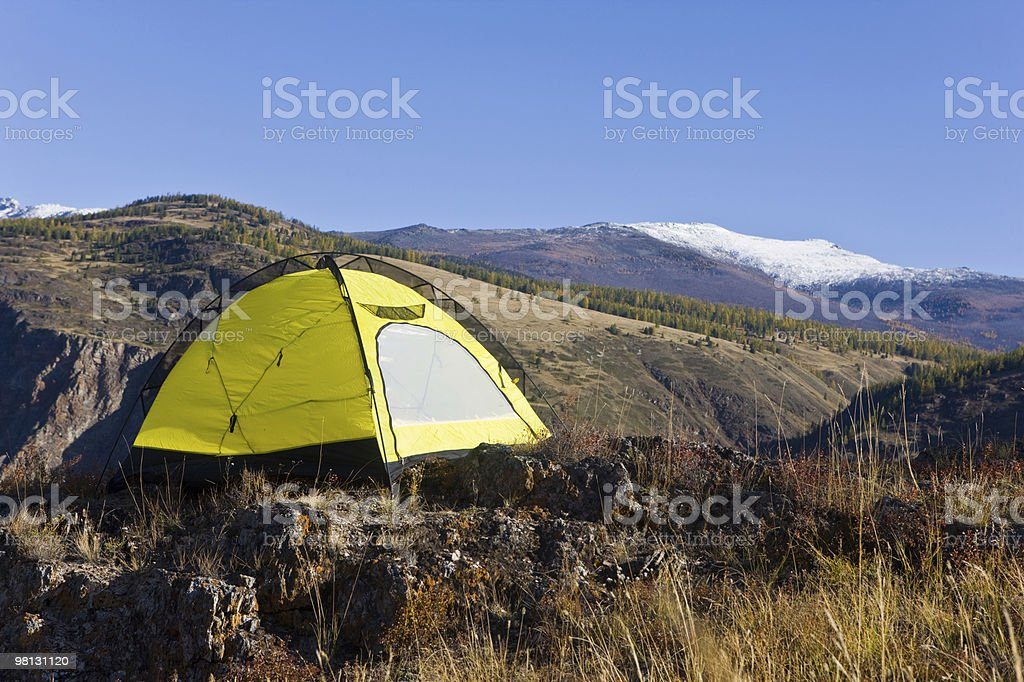 Yellow tent royalty-free stock photo
