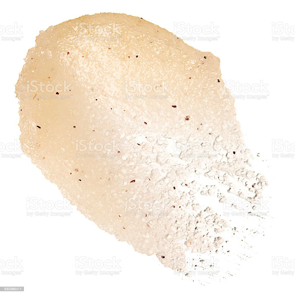 yellow textured body scrub stock photo