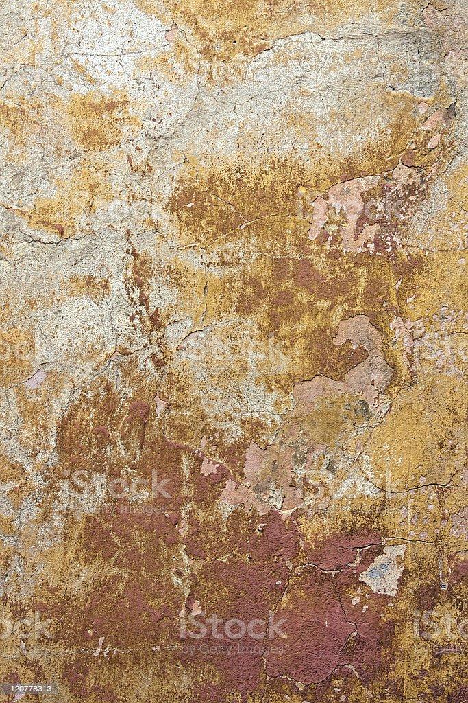Yellow textured wall royalty-free stock photo