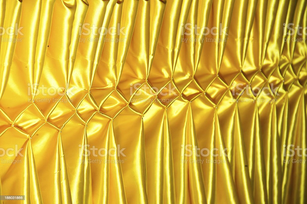 Yellow thai design of native cloth royalty-free stock photo