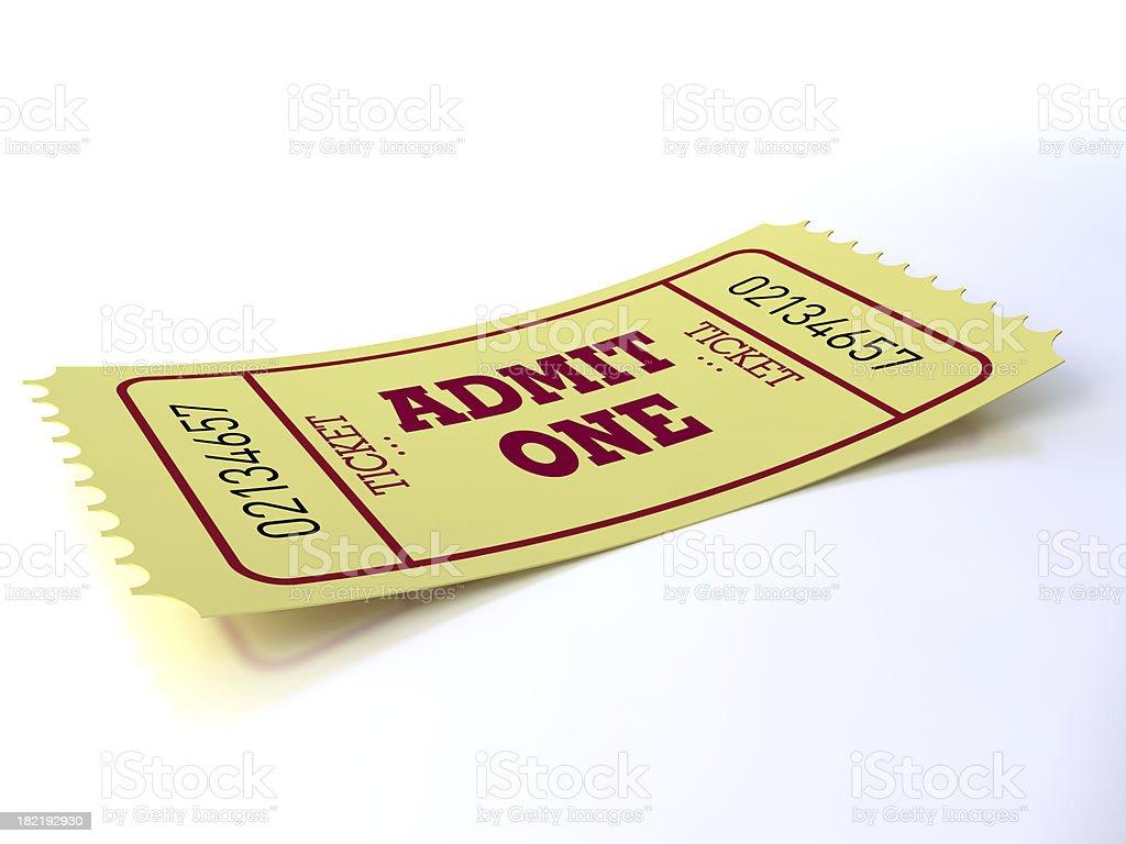 Yellow ticket royalty-free stock photo