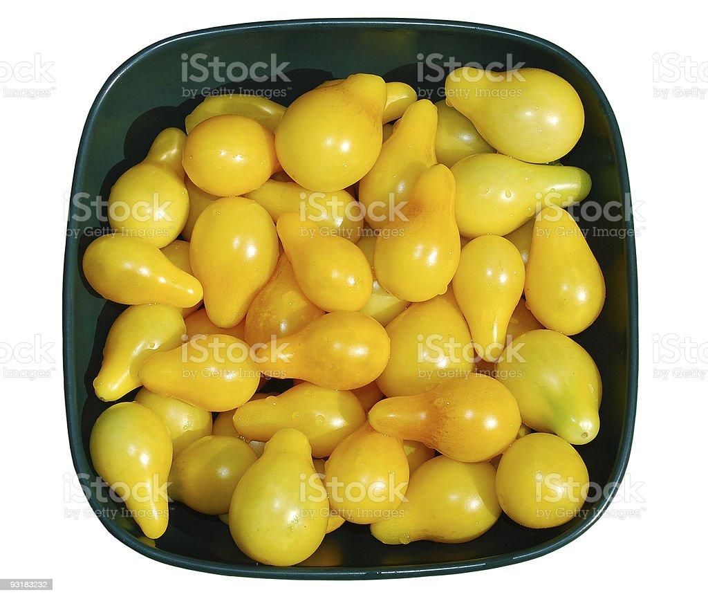 Yellow Tomatoes in Sunlight stock photo