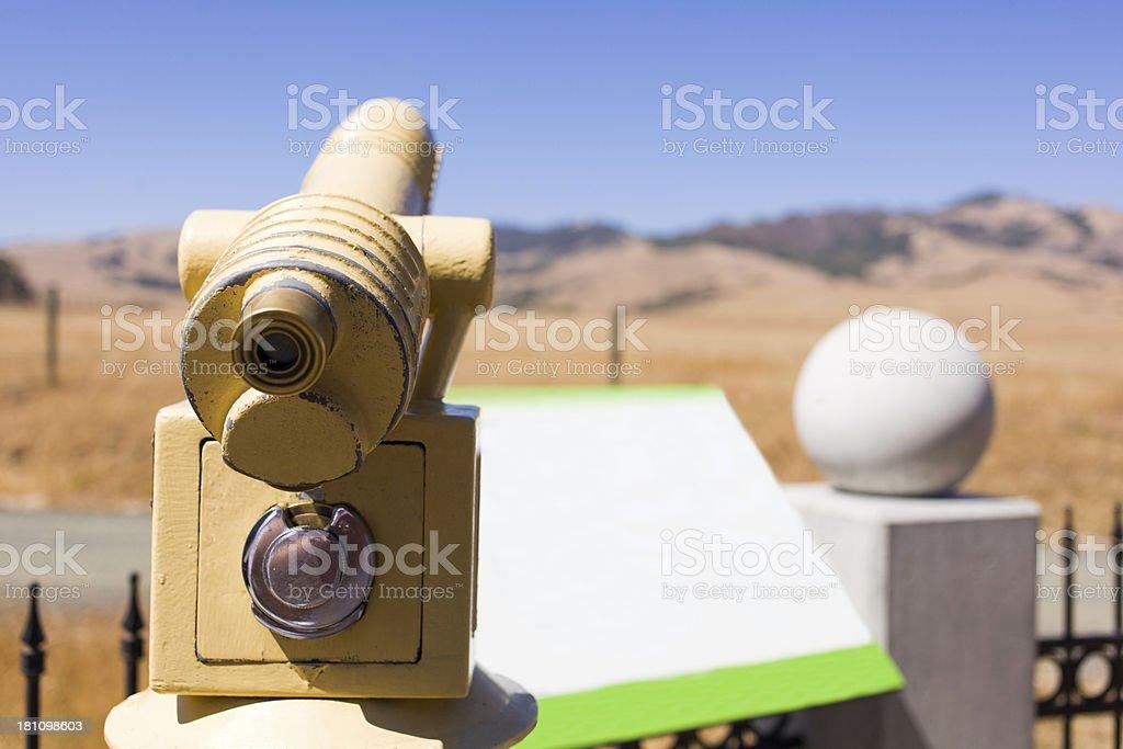 yellow tourist telescope royalty-free stock photo