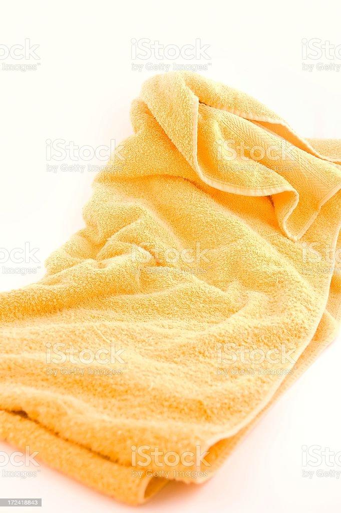 Yellow towel royalty-free stock photo