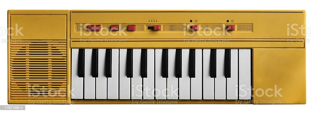 Yellow toy piano royalty-free stock photo