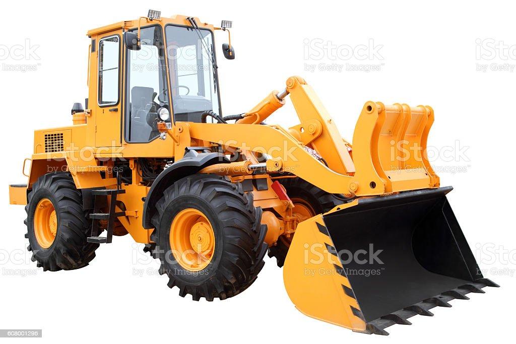 Yellow tractor. stock photo