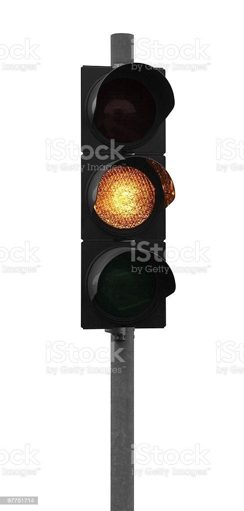 yellow traffic light royalty-free stock photo