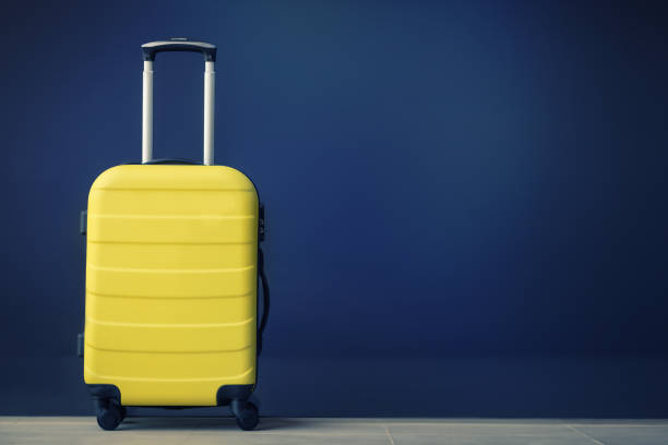 Yellow travel bag.