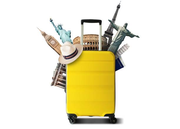 Gelbe travel Tasche – Foto