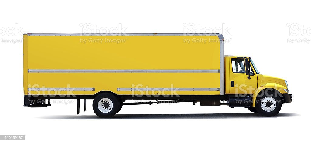 Yellow Truck (Clipping Path) royalty-free stock photo