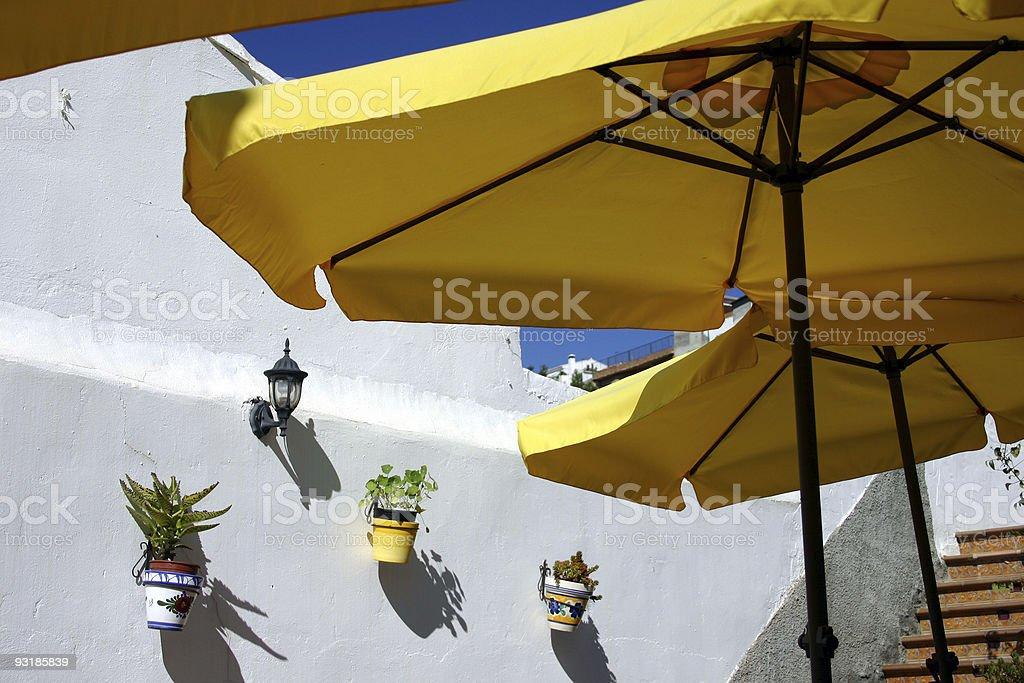 Yellow Umberellas royalty-free stock photo
