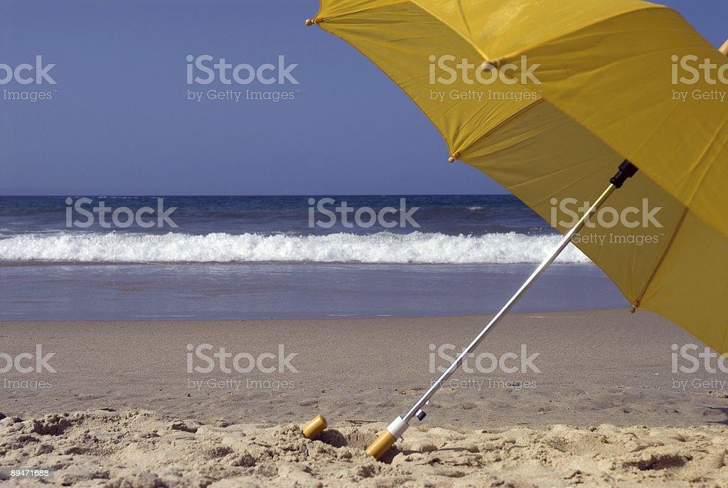 Yellow umbrella 9 royalty-free stock photo