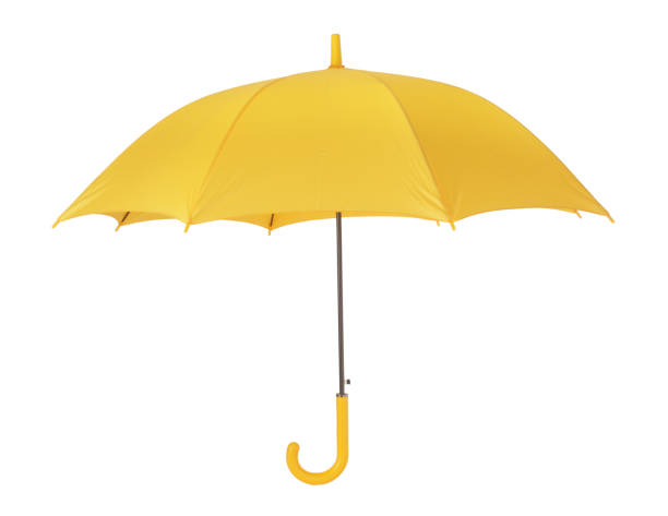 yellow umbrella - umbrellas stock photos and pictures