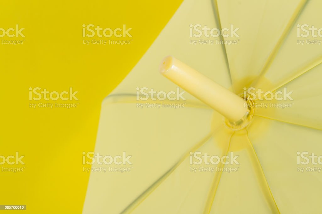 Yellow umbrella foto stock royalty-free