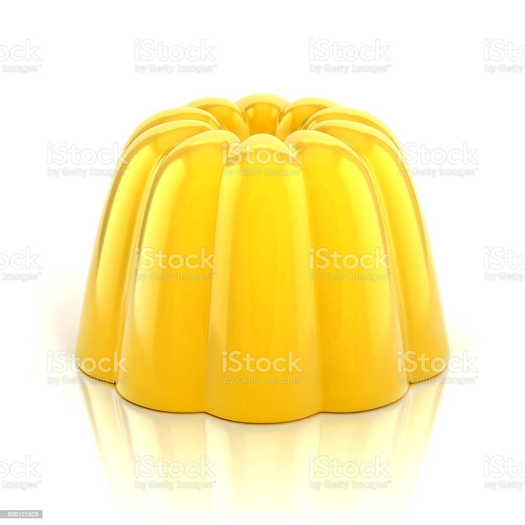 yellow vanilla jelly pudding stock photo