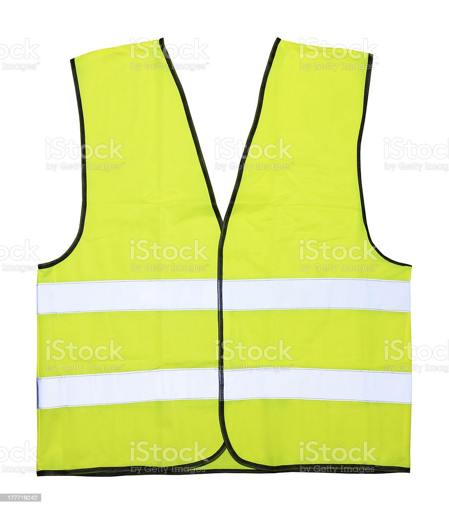 Yellow vest stock photo