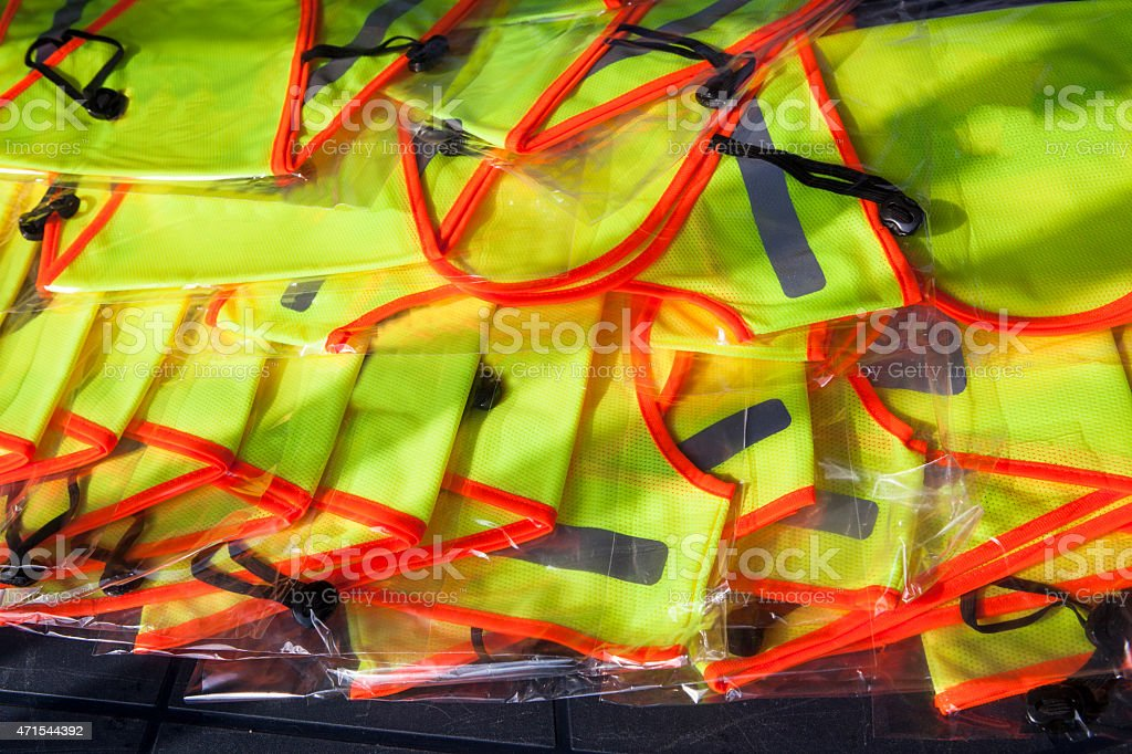 Yellow vests stock photo