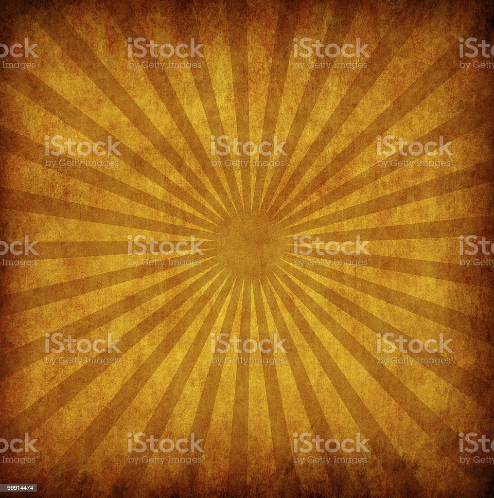 yellow vintage grunge background with sun rays royalty-free stock photo