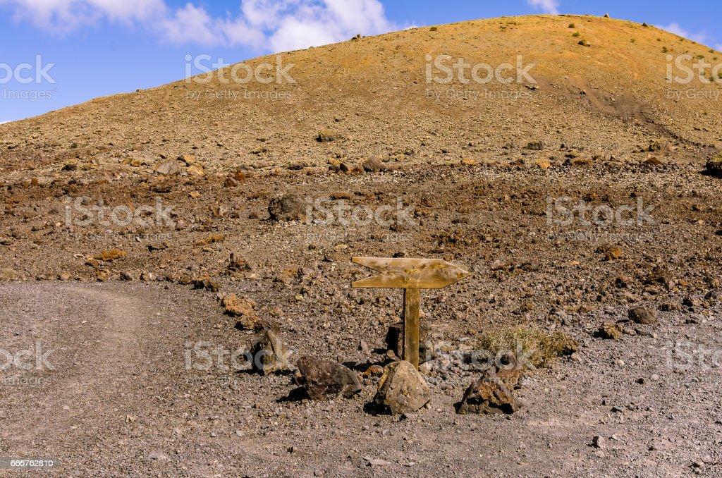 Yellow volcano in the Caldera Colorado, Lanzarote foto stock royalty-free