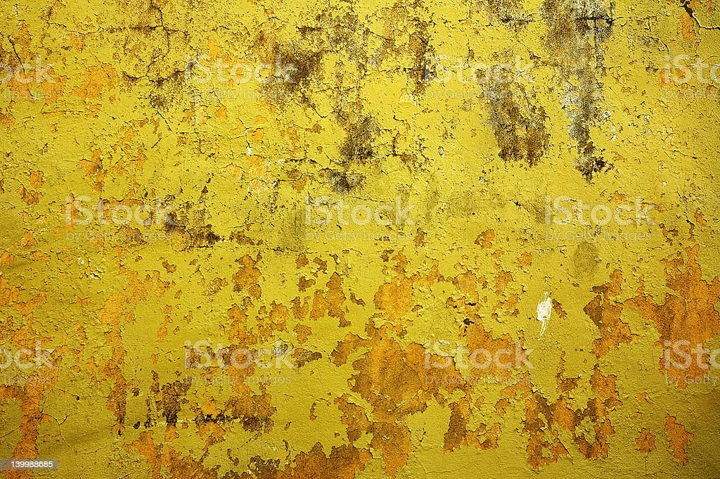 yellow wall - perfect grunge background royalty-free stock photo