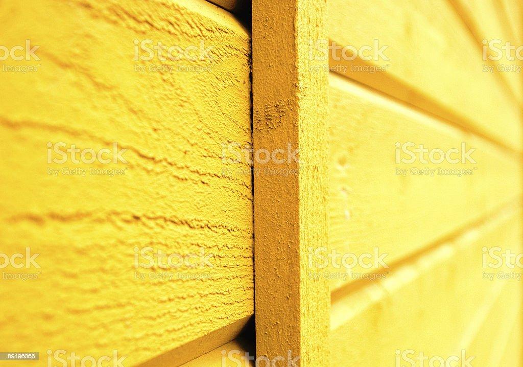 Giallo parete foto stock royalty-free