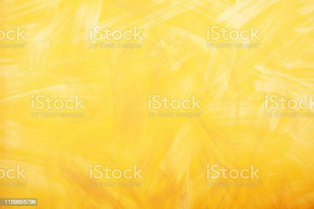 Photo of Yellow wall texture background