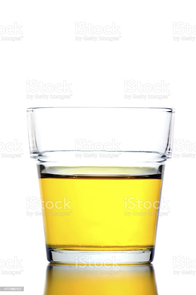 Yellow water in Glass isolated. royalty-free stock photo