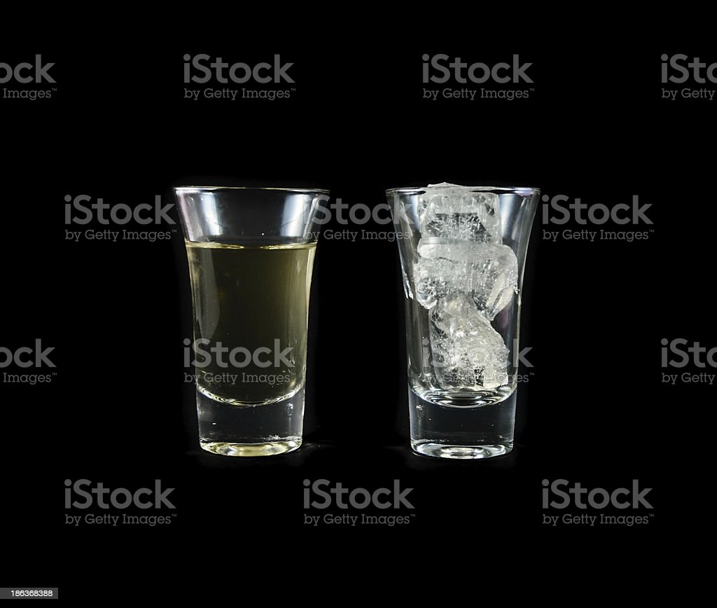 yellow water with ice royalty-free stock photo