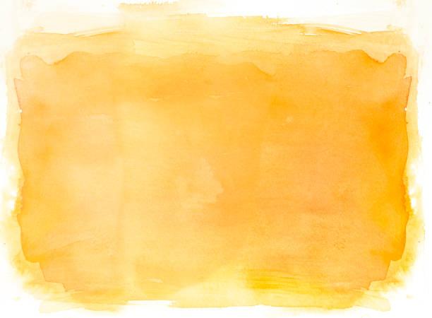 Gelbe Aquarell Hintergrund auf weiß – Foto