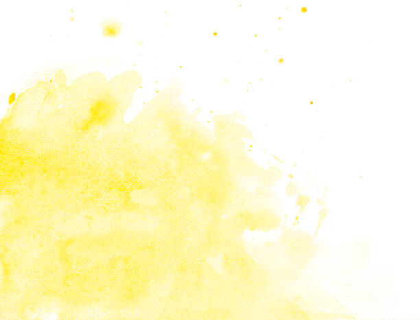 yellow watercolor background - yellow stock photos and pictures