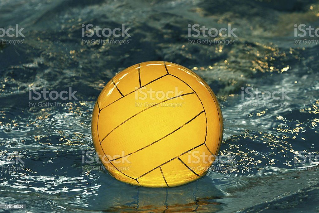 Yellow water-polo ball royalty-free stock photo