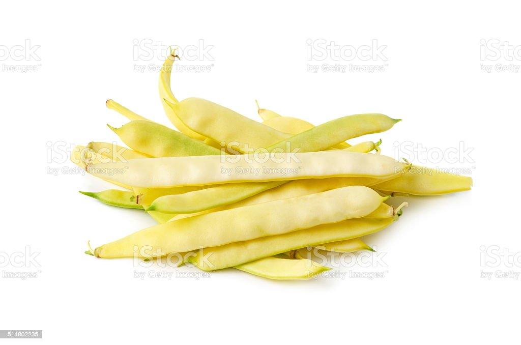 Yellow wax beans stock photo