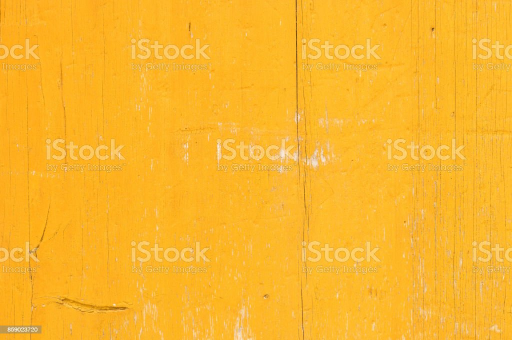 Yellow wooden background texture stock photo