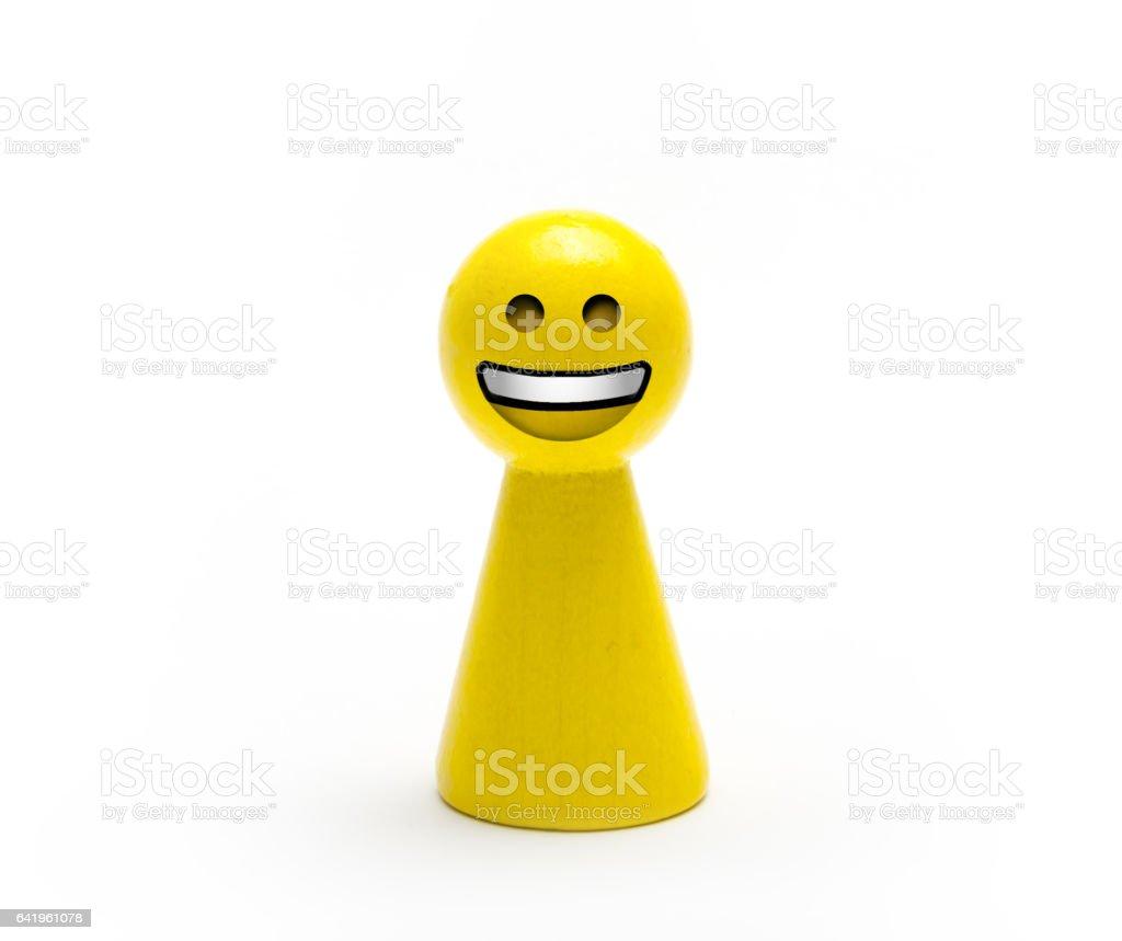 Peón De Madera Amarillo Con Carita De Emoji - Fotografía de stock y ...