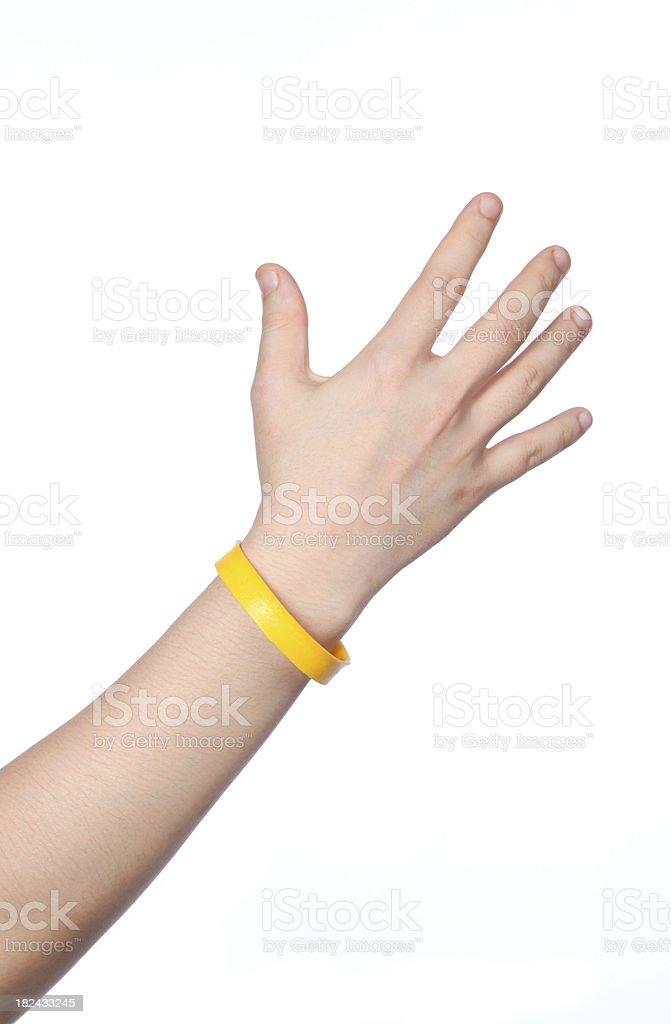 yellow wristband royalty-free stock photo